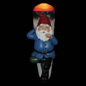 Good Time Up In This Joint Jerry Solar Gnome Statue, 13 by 5.5 Inches