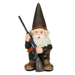 Good Time Hunting Harry Garden Gnome Statue, 13 Inch