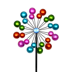 Exhart Double Bubble Wind Spinner Garden Stake, 20 by 65 Inches