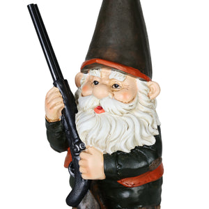 Exhart Good Time Hunting Harry Garden Gnome Statue, 13 Inch