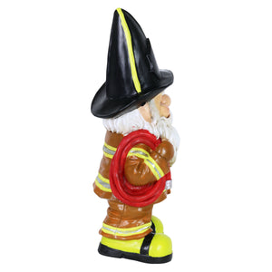 Fireman Fred Gnome Garden Statue, 13.5 Inches tall