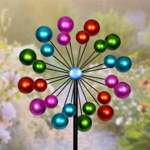 Double Bubble Wind Spinner Garden Stake, 20 by 65 Inches