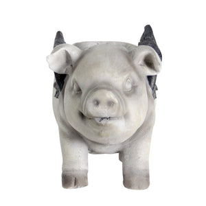 Exhart Adorable Flying Pig Planter, 17 by 10 Inches