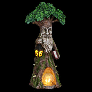 Solar Tree Scholar Carrying Book with Firefly LED Crackle Ball, 16 Inch