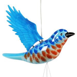 Solar WindyWings Blue Bird Wind Chime, 10 by 9 Inches