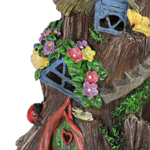 Exhart Solar Fairy House Planter and Garden Statue, 7 by 13 Inches