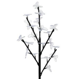 Exhart Solar Butterfly Branch Garden Stake with Twenty LED Lights, 13 by 38 Inches
