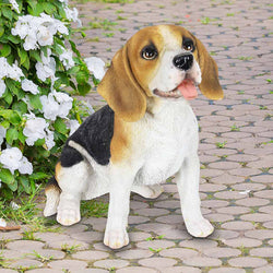 Hand Painted Beagle Statuary, 12 Inch