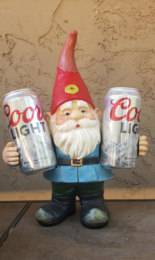 Good Time Double Fisting Two Can Timmy Gnome Garden Statue, 13 Inch