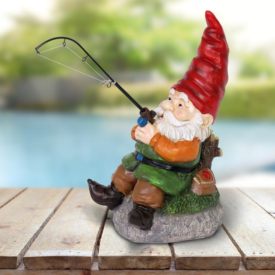 Good Time Fishing Frank Garden Gnome Statue