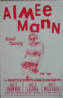 Aimee Mann Til Tuesday Loud Family Concert Poster