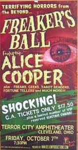 Alice Cooper Freakers Ball Handbills