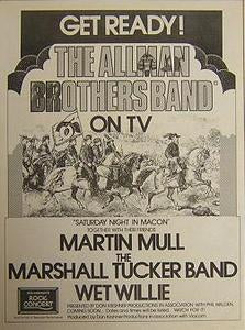 Allman Brothers Band 1973 Concert Poster Type TV Ad