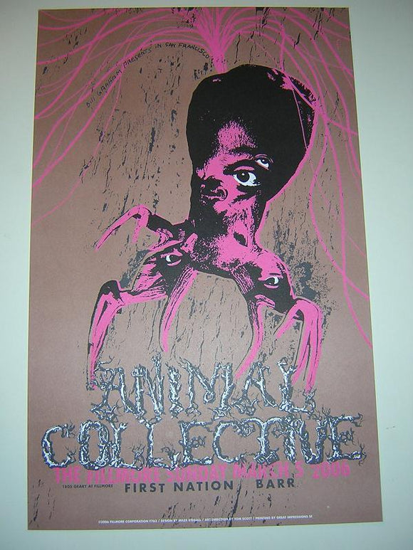 Animal Collective First Nation Fillmore San Francisco Concert Poster