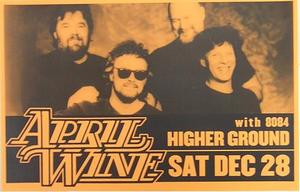 April Wine 12/28 Burlington Vermont Concert Poster