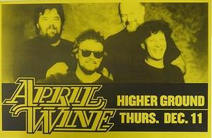 April Wine Higher Ground Concert Poster