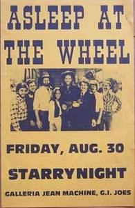 Asleep at the Wheel 8/30/85 Concert Poster
