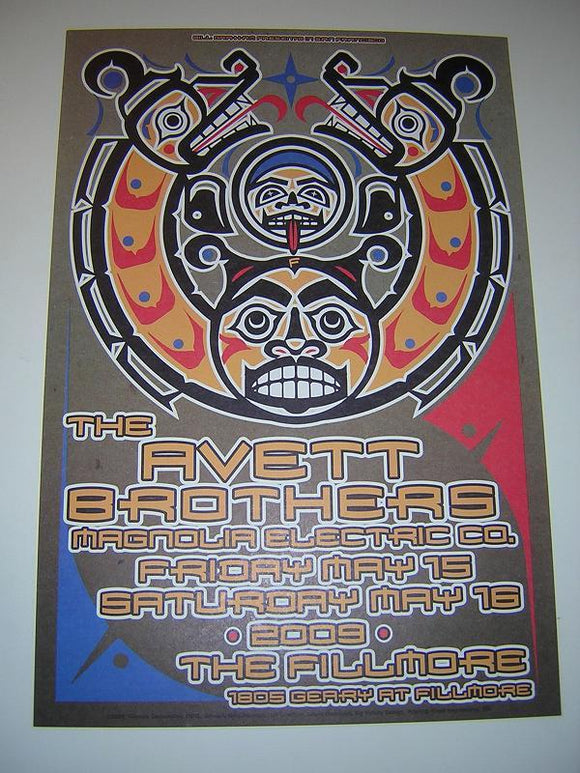 Avett Brothers Magnolie Electric Co. Fillmore Concert Poster