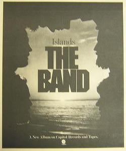 Band Islands 1977 Album Promo Poster Type Ad