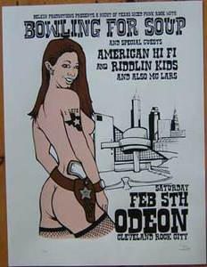 Bowling for Soup 2005 Odeon Concert Poster