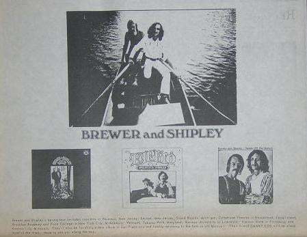 Brewer and Shipley 1972 LP Album Promo Poster Type Ad