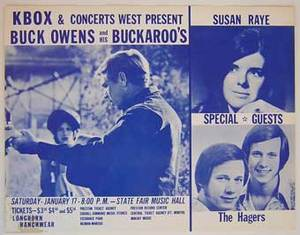 Buck Owens Texas Concert Flyer