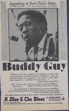 Buddy Guy Steve Paul's Scene Rare NYC Blues Concert Poster Type Ad