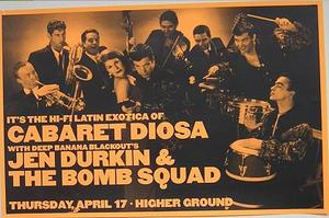Cabaret Diosa Jen Durkin Higher Ground Concert Poster