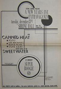 Canned Heat Lee Michaels 1968 Concert Poster Type Ad