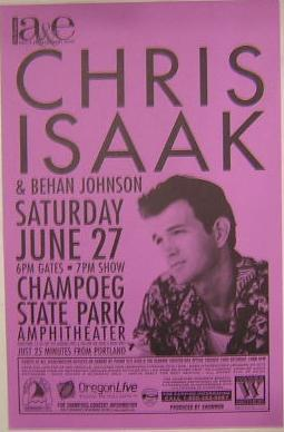Chris Isaak Champoeg State Park Concert Tour Poster