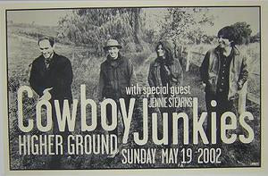 Cowboy Junkies 5/19/02 Higher Ground Concert Poster