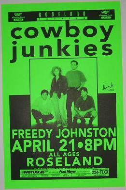 Cowboy Junkies Freedy Johnston Portland Concert Poster