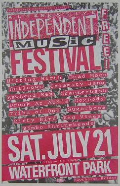 Dead Moon Hitting Birth Indy Music Festival 1990 Concert Poster