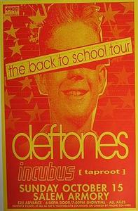 Deftones Incubus Salem Armory Concert Poster