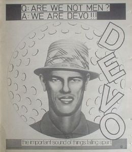 Devo Are We Not Men 1978 LP Album Promo Poster Type Ad