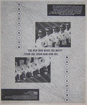 Devo Men Who Mkae Music 1980 Vintage LP Album Promo Poster Type Ad