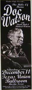 Doc Watson Cactus Cafe Concert Poster