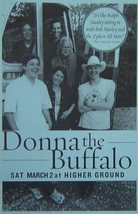 Donna The Buffalo 3/2/02 Vermont Concert Poster