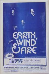 Earth Wind and Fire 7/27/2000 Concert Poster