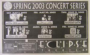 Eclipse Theater 2003 Spring Calendar Poster