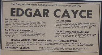Edgar Cayce 1968 Mind Expansion Lecture Ad