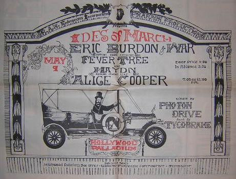 Eric Burdon Alice Cooper Ides Of March LG Concert Poster Type Ad