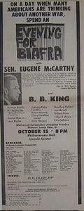Eugene McCarthy BB King Concert Rally Poster Type Ad