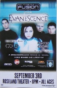 Evanescence Cold Roseland Concert Poster