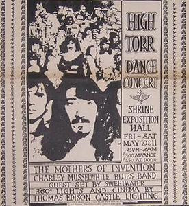 Frank Zappa Mothers Charlie Musslewhite 1968 Concert Poster Type Ad