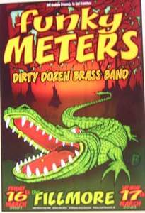 Funky Meters Dirty Dozen Fillmore Concert Poster