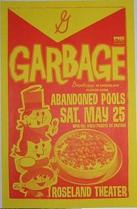 Garbage Abandoned Pools Roseland Concert Poster