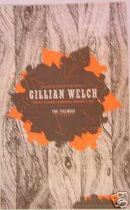 Gillian Welch Fillmore NF718 Concert Poster