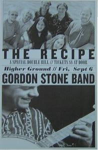 Gordon Stone The recipe Burlington Vermont Concert Poster