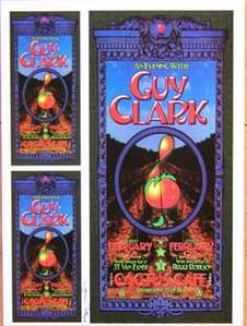 Guy Clark Texas Concert Poster Proof Sheet